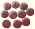 100 x 12mm Mahogany Baby Sewing Buttons