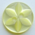 50 x 17mm Star Center Lemon Sewing Buttons