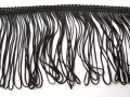 Charleston Dress Loop Tassel Fringe 4 Inch Black