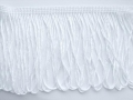 Charleston Dress Loop Tassel Fringe 4 Inch White
