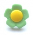 Novelty Button Flower Yellow and Pastel 15mm