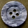 19mm Black Marble Sewing Button 4 Hole