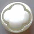 11mm Ivory White Clover Baby Sewing Button