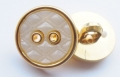 18mm Pearl and Gold Rim Sewing Button