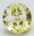 13mm Crystal Yellow Sewing Button