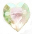 11mm Crystal Heart Shank Sewing Button