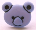 Novelty Button Teddy Face Lilac 15mm