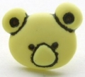 Novelty Button Teddy Face Yellow 15mm
