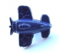 Novelty Button Aeroplane Navy Blue 15mm