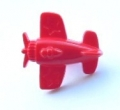 Novelty Button Aeroplane Red 15mm