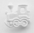 Novelty Button Train White 16mm