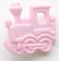 Novelty Button Train Pink 16mm