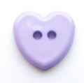 Novelty Button Heart Lilac 14mm