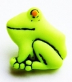 Novelty Button Frog Green 17mm