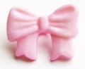Novelty Button Bow Pink 16mm