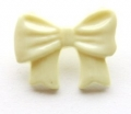 Novelty Button Bow Cream 16mm