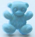 Novelty Button Teddy Light Blue 15mm