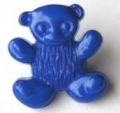 Novelty Button Teddy Royal Blue 15mm