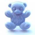 Novelty Button Teddy Lilac 15mm