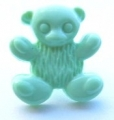 Novelty Button Teddy Light Green 15mm