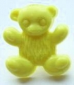Novelty Button Teddy Yellow 15mm