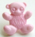 Novelty Button Teddy Pink 15mm