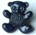 Novelty Button Teddy Navy Blue 15mm