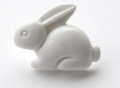 Novelty Button Bunny White 18mm
