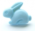 Novelty Button Bunny Light Blue 18mm