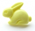 Novelty Button Bunny Yellow 18mm