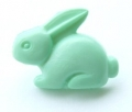Novelty Button Bunny Light Green 18mm
