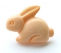 Novelty Button Bunny Peach 18mm