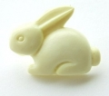 Novelty Button Bunny Cream 18mm