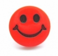 Novelty Button Smiley Face Red 14mm