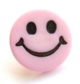 Novelty Button Smiley Face Pink 14mm