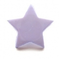 Novelty Button Star Lilac 14mm