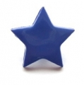 Novelty Button Star Royal Blue 14mm