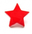 Novelty Button Star Red 14mm