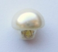 8mm Half Ball Pearl Cream Sewing Button