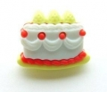 Novelty Button Cake Red 22mm
