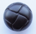 Leather Look Sewing Button 15mm Black