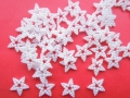 50 Pearl Star Shapes Wedding Crafts 12mm