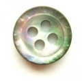 10mm Black and Rainbow Sewing Button 4 Hole