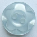 100 x 14mm Winegum Light Blue Sewing Buttons
