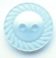 11mm Swirl Edge Light Blue Sewing Button