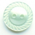 11mm Swirl Edge Light Green Sewing Button