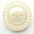 11mm Swirl Edge Cream Sewing Button