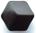 11mm Hexagon Shank Black Sewing Button
