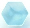 11mm Hexagon Shank Light Blue Sewing Button