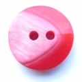 17mm Chunky Two Tone Red Sewing Button